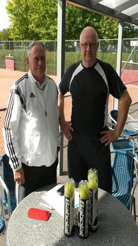 Frans Bergmans (l) en Jan Bos (r)