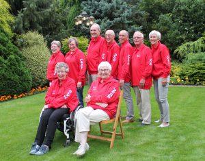 Van links naar rechts: Marian, Lenie, Co, Rob, Hans, Ton, Trees, Riky en Netta